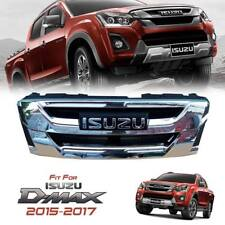 CHROME FRONT GRILLE GRILL CHROME LOGO FOR ALLNEW ISUZU D-MAX DMAX 2WD 4WD 15-17