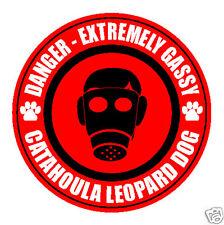 Danger Gassy Catahoula Leopard Dog Fart Dog Sticker