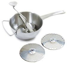Norpro 595 Food Mill Ricer Strainer 2Qt With 2 Discs 18/10 Stainless Steel