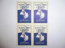 1956 OLYMPIC GAMES MELBOURNE/AUSTRALIA ORIGINAL Australia Set of 4 Stamps!!!!!!!