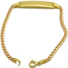 Polished 1.60 grams 5mm wide 6 inche Baby Id Bracelet 14k Yellow Gold Open links