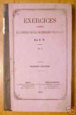 EXERCICES ... A L'ABREGE DE LA GRAMMAIRE FRANCAISE 1879