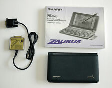 Sharp Zaurus ZR-5000 PDA Personal Electronic Organizer with manual & data cable