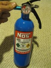 NEW Blue NOS Fire Extinguisher Looks Like NITROUS BOTTLE Rat Hot Rod RED DECAL
