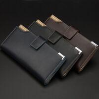 Chic Men's Long Bifold Credit Card Clutch Money Holder Pocket Clip Wallet Purse