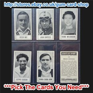 BARRATT & CO - GIANTS IN SPORT 1959 (G/F) ***PICK THE CARDS YOU NEED***