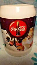 Vintage Coca Cola Mug 1995 Collectible Santa Polar Bears White Coffee 26 oz NOS