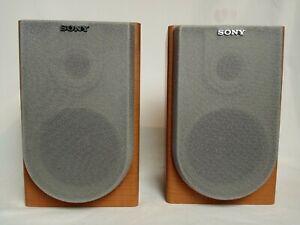 Sony SS-CNE3 Bookshelf Speakers 6 Ohms Pair Of Wood Stereo Speakers