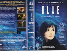 THREE COLOURS BLUE -VHS -PAL -NEW -Never played!! -VERY RARE-Original Oz release