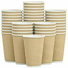 New Listingluckypack Hot 16 Oz Disposable Paper Coffee Cups For Drink 10016oz Brown