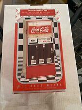 Rare Vintage Coca-Cola Die Cast Vending Machine Musical Bank  New in Box 1996