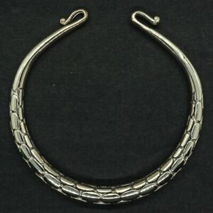925 silver torc bangle torque cuff biker pagan viking arm ring norse roman