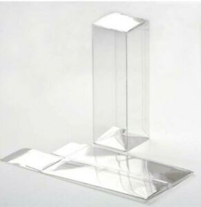 """25 Count 1 5/8"""" x 1 5/8"""" x 5"""" Crystal Clear Boxes Pop & Lock Bottom W/ Sticker"""