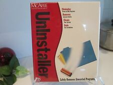 MCAFEE UNINSTALLER WINDOWS 95/98/NT4/2000 (work station only) software UNOPENED!