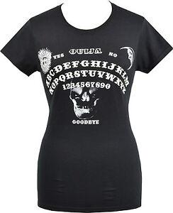 SALE! LADIES BLACK T-SHIRT OUIJA BOARD WITCHCRAFT SPIRITS PASTEL GOTH HALLOWEEN