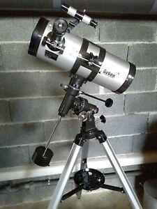 Telescope astronomique Seben 114/1000 EQ3 Star Shériff neuf avec accessoires, Zo