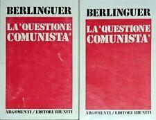 ENRICO BERLINGUER LA QUESTIONE COMUNISTA 1969-1975 EDITORI RIUNITI 1975 2 VOLUMI