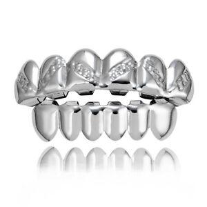 14k Gold Plated Hip Hop Teeth Grillz for Women Men Top Bottom Grill Set Custom