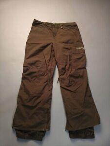 Burton Men Brown Dry Ride Ski Snowboarding Snow Poacher Pants Size XL