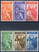 Vaticano 1935 Congresso Giuridico S10 n. 41/46 usati (m435)