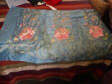 Vintage Piece Of Stitched Silk