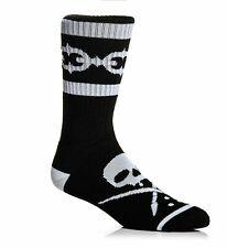 Sullen Art Collective Linked Crew Socks Black White Tattoo Artist Gift UK