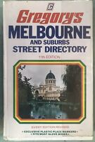 1975 11th EdItion Vintage Gregory's Melbourne Street Directory Road Map Car Book