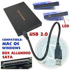 BOX ESTERNO 2.5 CUSTODIA CONTENITORE HD HDD SSD CASE USB2.0 HARD DRIVE DISK