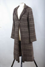 P535/12 Monsoon Lambswool / Angora Blend Brown Long Cardigan Coat, UK12 Eur 40