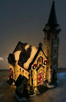 Santa's Workbench Victorian Lord's Chapel  Cathedral Church Village House 11""