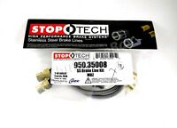 STOPTECH STAINLESS BRAIDED FRONT BRAKE LINES FOR 02-16 MERCEDES BENZ G500 G550