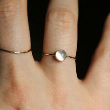 Natural 0.80ct Moonstone 18k Yellow gold Handmade Vintage Ring Fine Jewelry 5-7