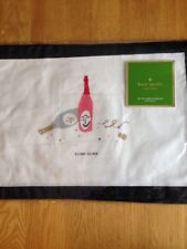 "Kate Spade Pretty Pantry Clink Clink Placemats - Set of 4 - New 13""x19"" Cotton"