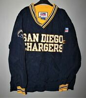 SAN DIEGO CHARGERS NFL JACKET PULLOVER VINTAGE CHAMPION SIZE XL