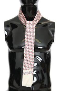 NEW $220 DOLCE & GABBANA Scarf Multicolored Silk Skinny Necktie 140cm x 25cm