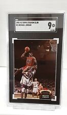1992-93 Stadium Club #1 Michael Jordan ~ 9 MT~ SGC grading