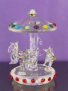 CRYSTAL CAROUSEL / MERRY GO ROUND with SWAROVSKI CRYSTALS