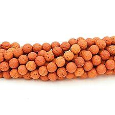 Lava Beads 8mm Terracotta x 47 Pieces