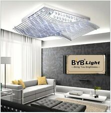 Modern LED Lighting Chandelier K9 Crystal Ceiling Light Lamp With Remote Control