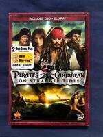 Pirates of the Caribbean On Stranger Tides (Blu-ray - DVD, Disney,**NEW**) - STK