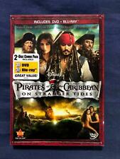Pirates of the Caribbean On Stranger Tides (Blu-ray and DVD, Disney, NEW) - STK