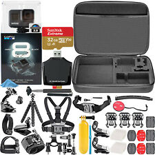 GoPro Hero8 Black Waterproof Action Camera CHDHX801 Ultimate Starters Bundle Kit