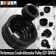 EMUSA Aluminum Performance Black Crank Pulley Kit for 02-05 Subaru Impreza 2.0T
