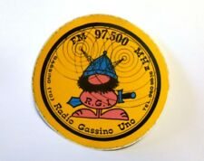 VECCHIO ADESIVO RADIO / Old Sticker RADIO GASSINO UNO (cm 15).