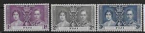 FIJI SG246/8 1937 CORONATION SET MTD MINT