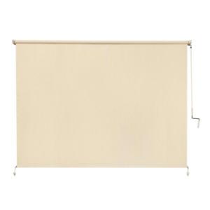 Cordless Sesame Light Filtering Roller Shade  Fade Resistant Fabric Exterior