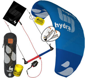 HQ HQ4 Hydra 420 4.2 Water Trainer Kite Kiteboarding SUP Foil 3 Line Control Bar