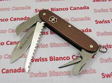 Swiss Bianco Exclusive Victorinox Harvester Brown Alox Swiss Army Knife