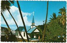 Postcard Hawaii Kahaluu St Peter's by Sea Catholic Church MINT c1960s Big Island