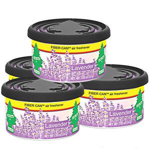 Little Trees Fiber Can Car Air Freshener 4-Pack (Lavender)